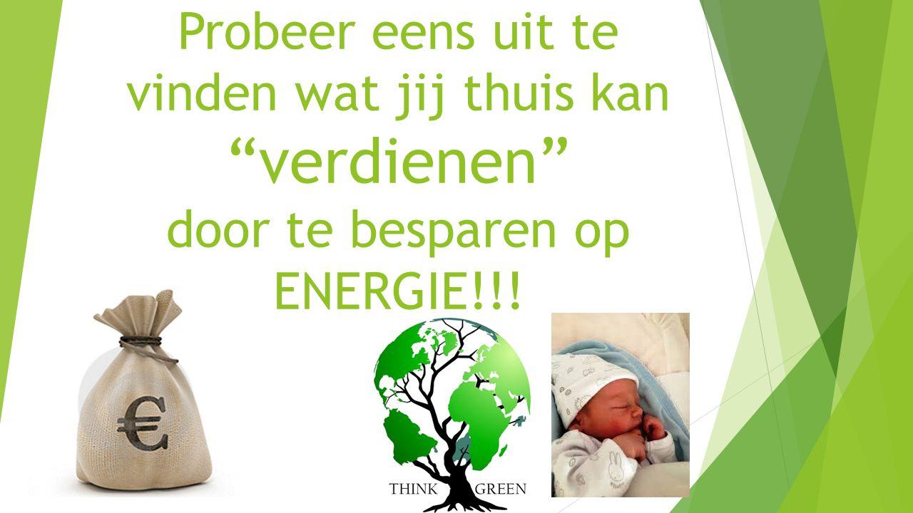 """Probeer eens uit te vinden wat jij thuis kan """"verdienen"""" door te besparen op ENERGIE!!!"""