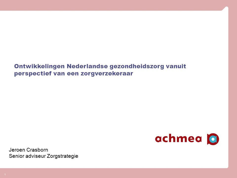 Inhoud presentatie Voorstellen Hoe staat de Nederlandse gezondheidszorg ervoor in Europa Wat zijn de vraagstukken en uitdagingen nu en in de toekomst van de Zorg Wat is er nodig om onze gezondheidszorg solidair te houden Wat betekent dit voor de rol van partijen en die van zorgverzekeraar in het bijzonder Conclusies 2