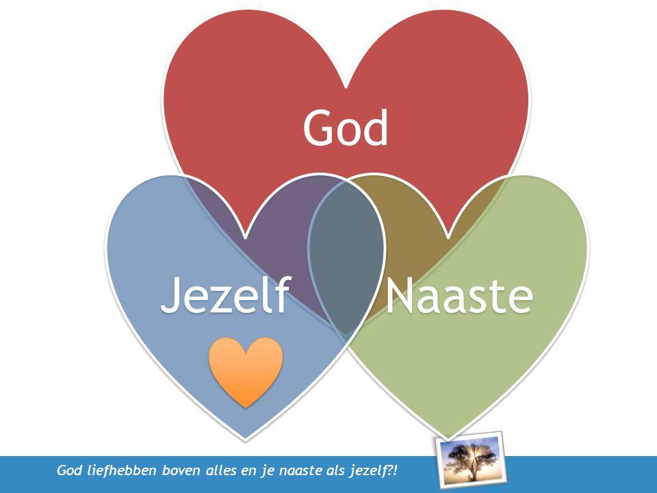God liefhebben boven alles en je naaste als jezelf?! God Naaste Jezelf