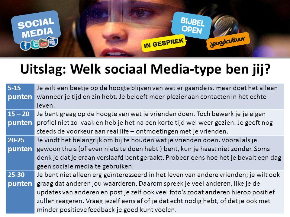 Uitslag: Welk sociaal Media-type ben jij.