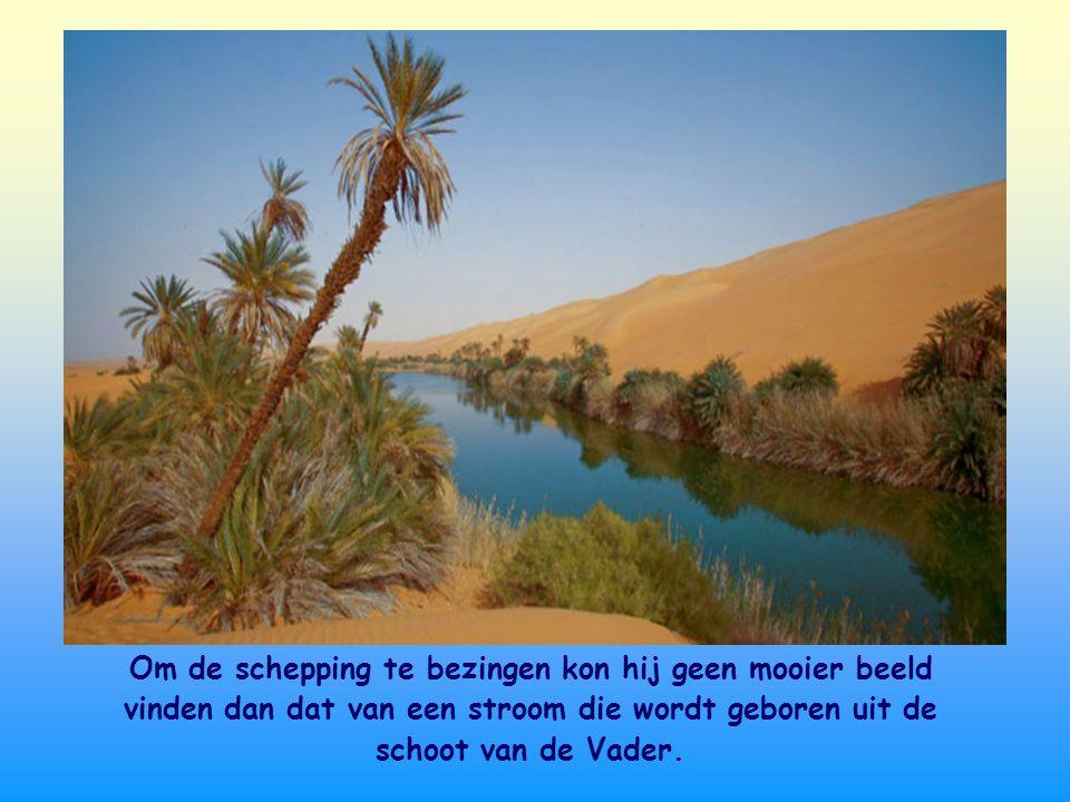 De psalmist kent de harde omstandigheden van het leven in de woestijn, de dorre droogte. Hij weet wat een waterbron betekent met al het leven dat er o