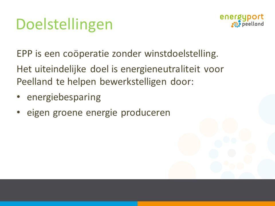 Doelstellingen EPP is een coöperatie zonder winstdoelstelling.