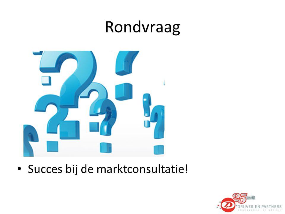 Rondvraag Succes bij de marktconsultatie!
