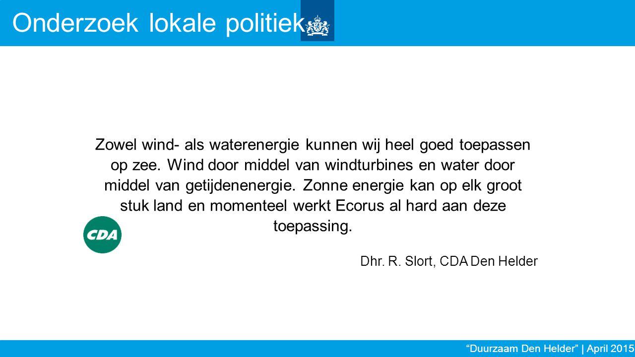 Zowel wind- als waterenergie kunnen wij heel goed toepassen op zee. Wind door middel van windturbines en water door middel van getijdenenergie. Zonne