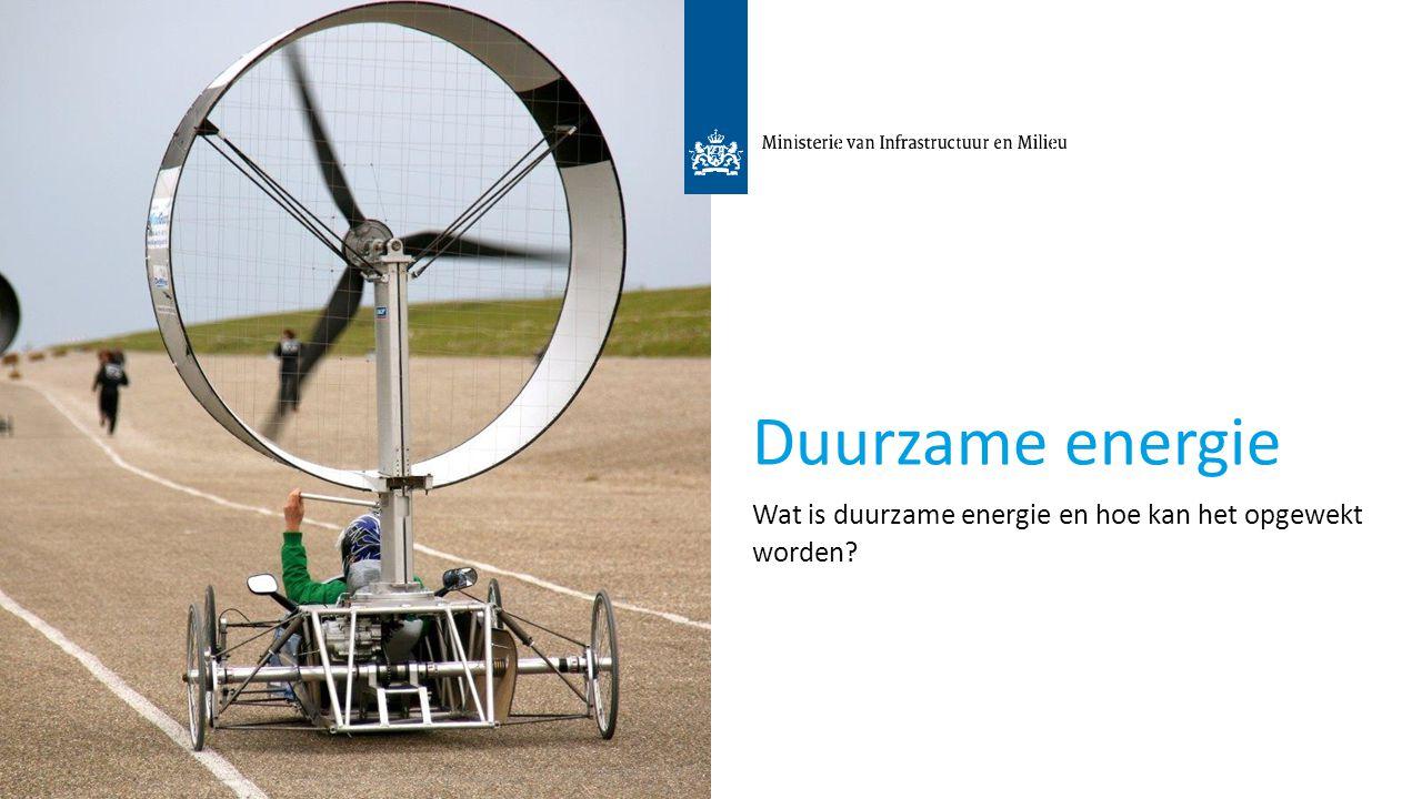 3 Duurzame energie Wat is duurzame energie en hoe kan het opgewekt worden?
