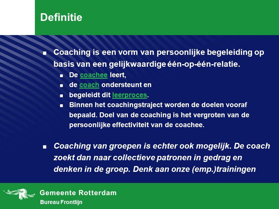 Bureau Frontlijn Wekzame factoren in provocatieve coaching Het ik en zijn onderdelen: I.Denken II.Voelen III.Handelen IV.Waarnemen V.Beloven/Geloven