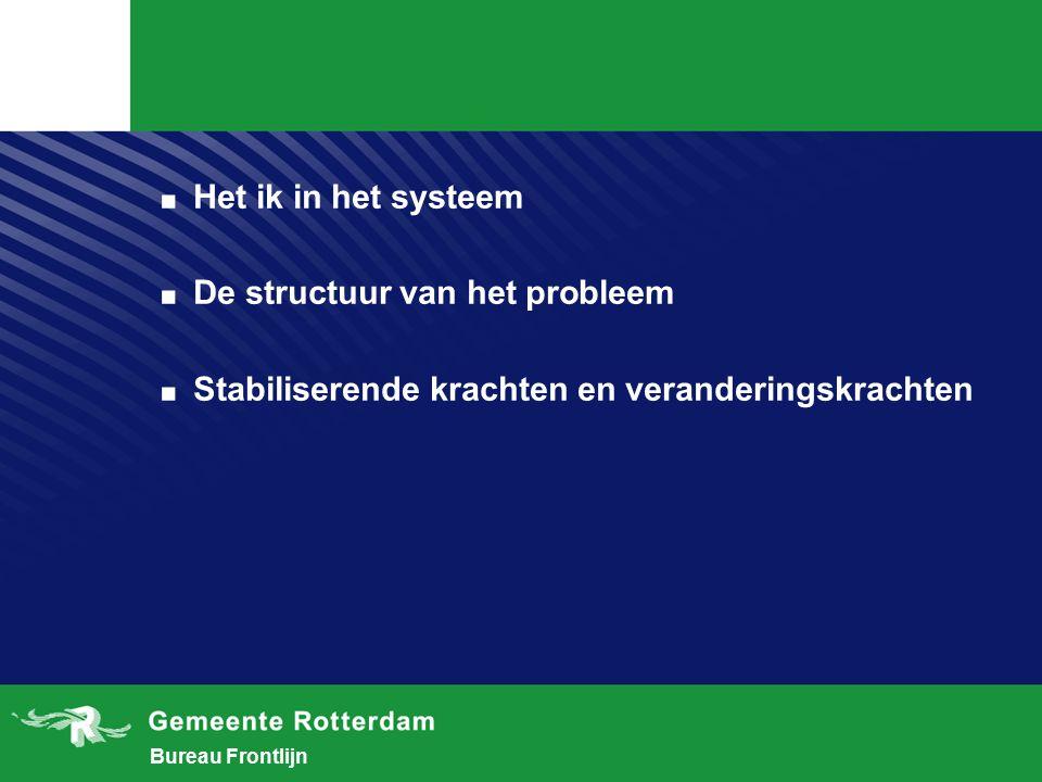 Bureau Frontlijn.Het ik in het systeem. De structuur van het probleem.
