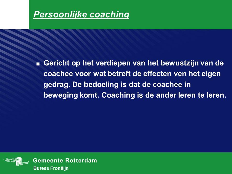 Bureau Frontlijn Deze serie vooronderstellingen staat tegenover de ideeën waar in de meer traditionele coaching en hulpverlening vaak van word uitgegaan, namelijk : 1.
