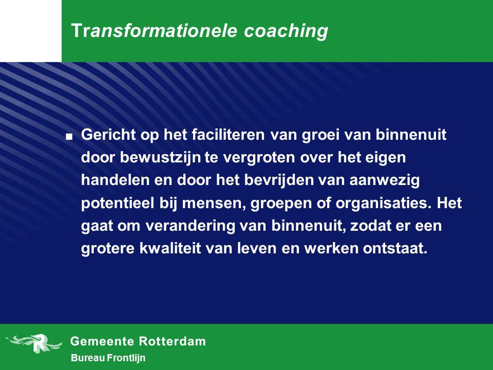 Bureau Frontlijn Vergelijking Provocatieve coaching Traditionele coaching 1.