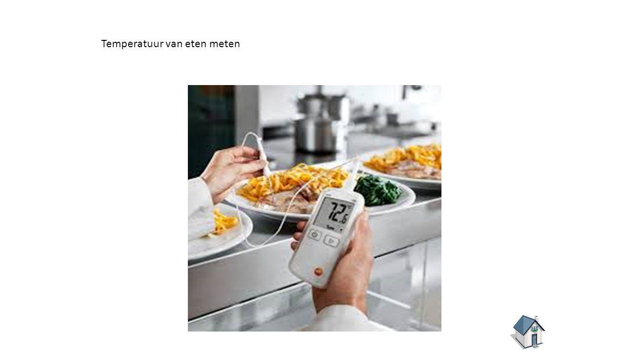 Temperatuur van eten meten
