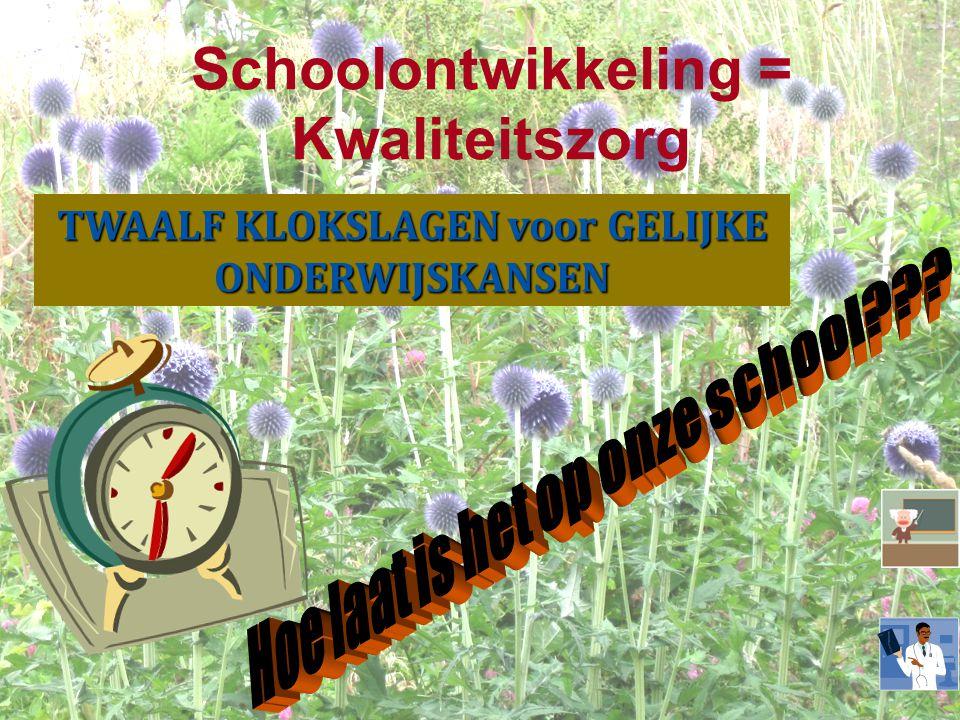 Schoolontwikkeling = Kwaliteitszorg TWAALF KLOKSLAGEN voor GELIJKE ONDERWIJSKANSEN