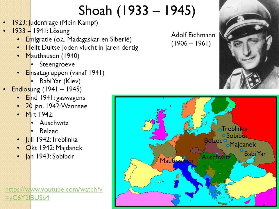 1923: Judenfrage (Mein Kampf) 1933 – 1941: Lösung Emigratie (o.a.