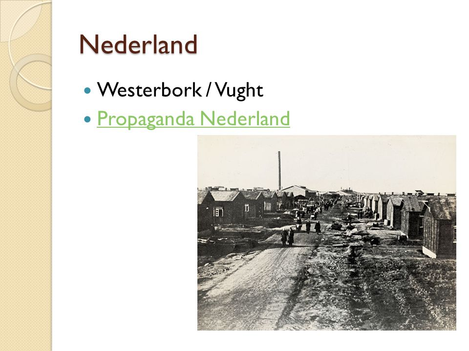 Nederland Westerbork / Vught Propaganda Nederland