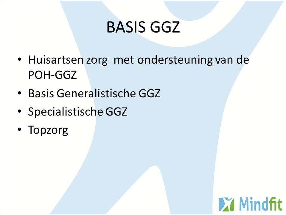 BASIS GGZ Huisartsen zorg met ondersteuning van de POH-GGZ Basis Generalistische GGZ Specialistische GGZ Topzorg