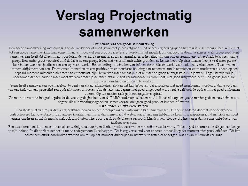Verslag Projectmatig samenwerken (2) Fase 1 'Handelen' De 1e les van het vak projectmatig samenwerken ging over het duidelijk kunnen benoemen van je sterke en zwakke punten.
