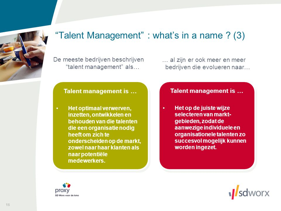 16 Talent Management : what's in a name .