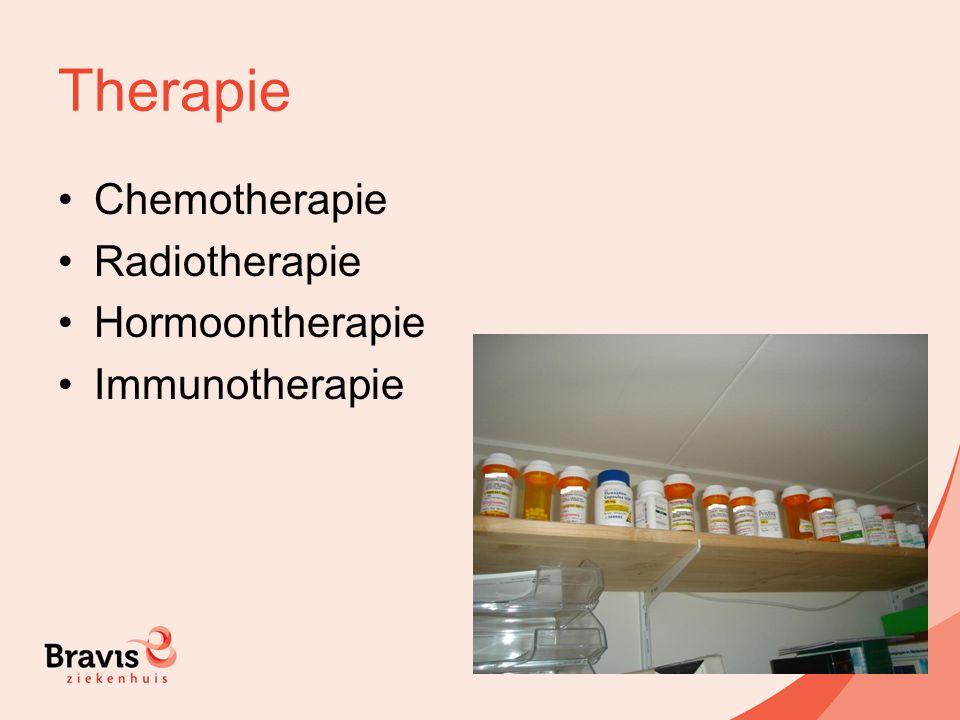 Therapie Chemotherapie Radiotherapie Hormoontherapie Immunotherapie