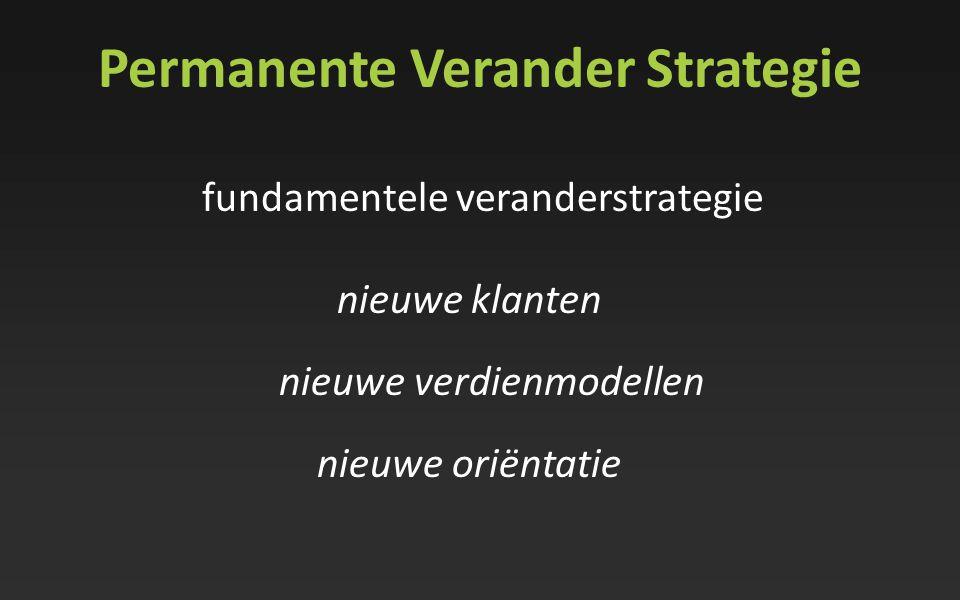 fundamentele veranderstrategie nieuwe klanten nieuwe verdienmodellen nieuwe oriëntatie Permanente Verander Strategie
