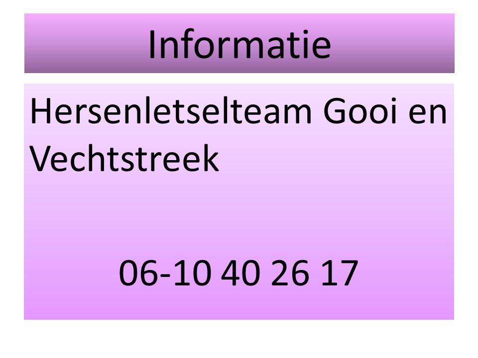 Informatie Hersenletselteam Gooi en Vechtstreek 06-10 40 26 17