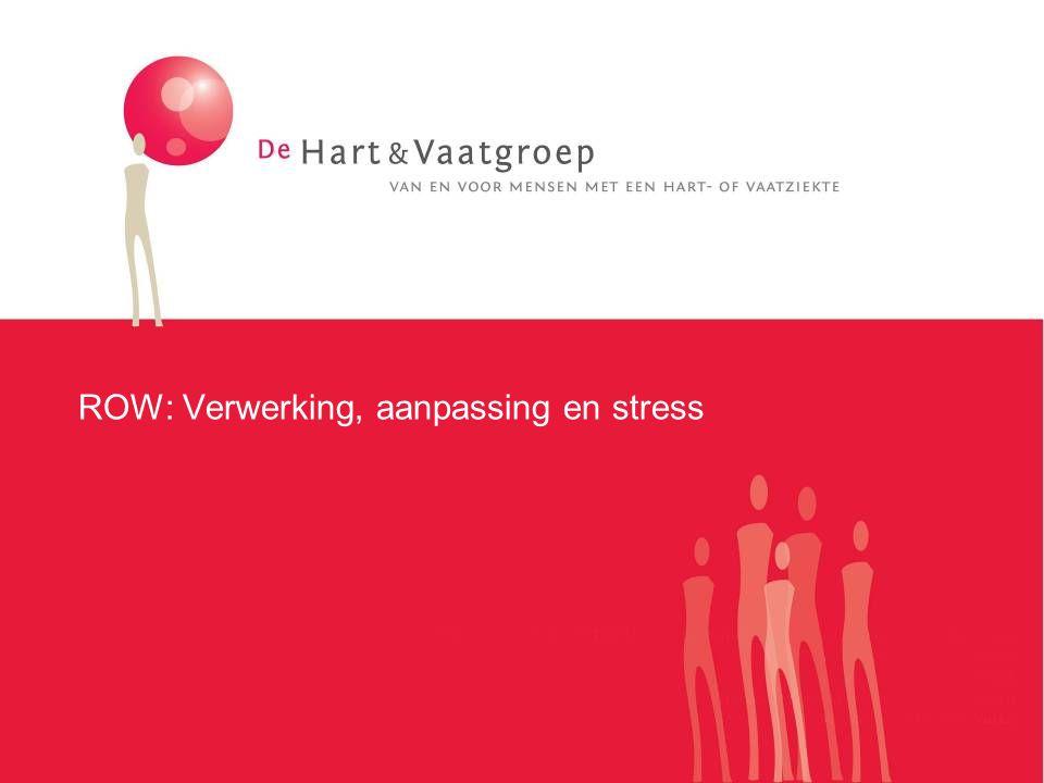Het stressmechanisme is een overlevingsmechanisme Stressor