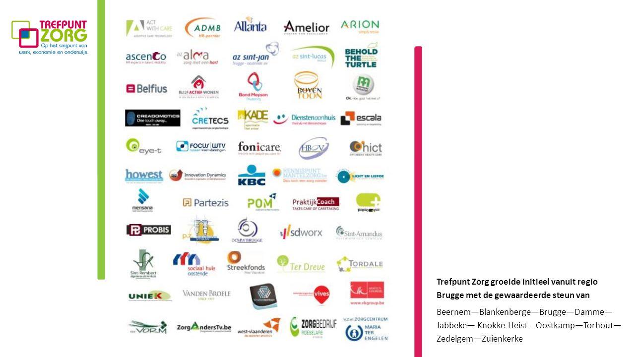 Trefpunt Zorg groeide initieel vanuit regio Brugge met de gewaardeerde steun van Beernem—Blankenberge—Brugge—Damme— Jabbeke— Knokke-Heist - Oostkamp—Torhout— Zedelgem—Zuienkerke