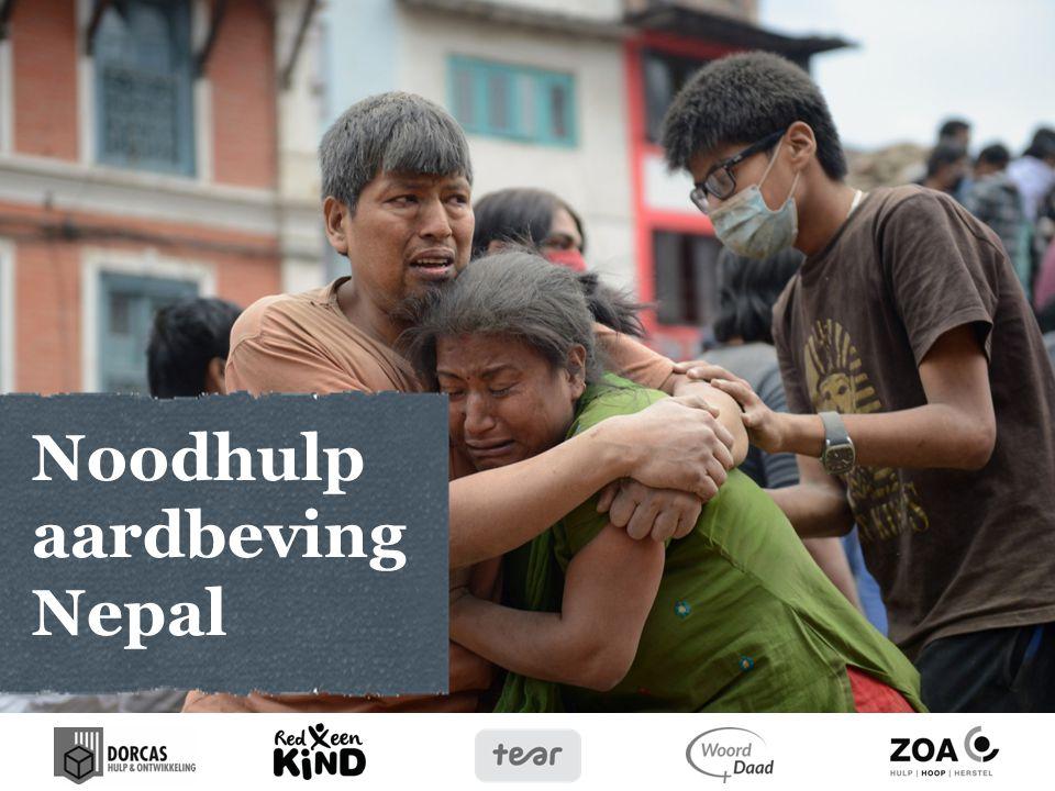 Aardbeving op 25 april 2015 -Aardbeving van 7,9 op de schaal van Richter heeft duizenden mensen het leven gekost.