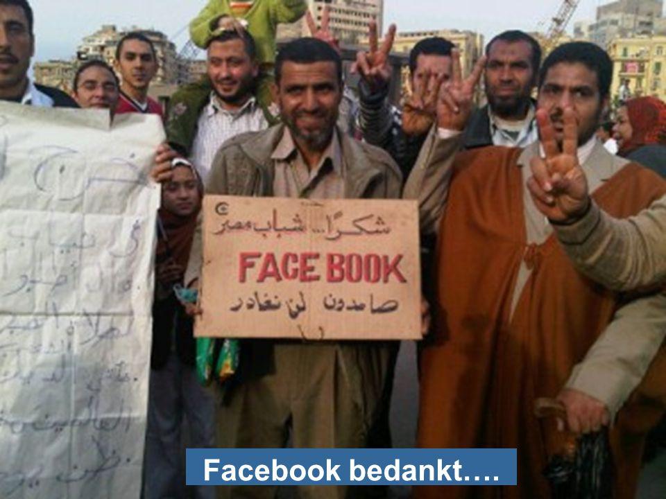 Facebook bedankt….