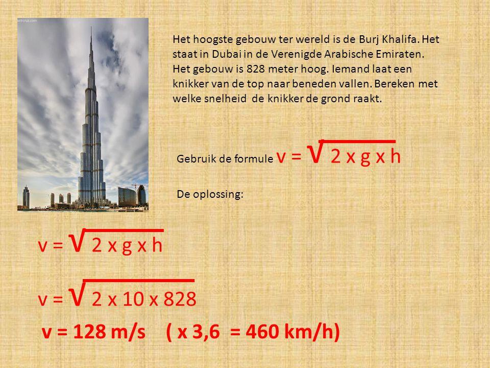 Het hoogste gebouw ter wereld is de Burj Khalifa. Het staat in Dubai in de Verenigde Arabische Emiraten. Het gebouw is 828 meter hoog. Iemand laat een