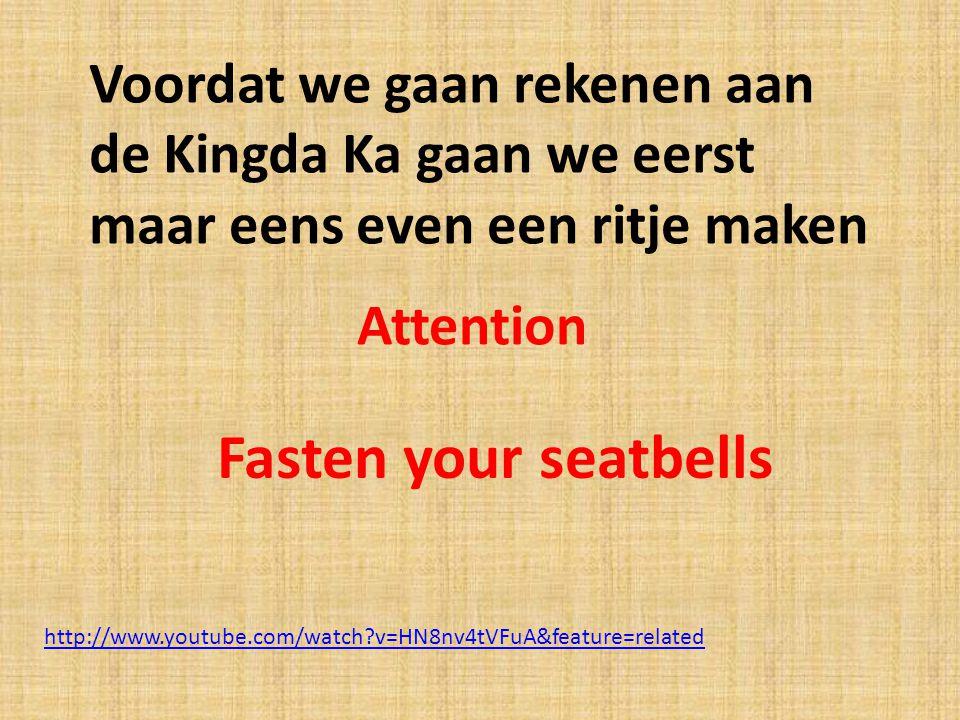 http://www.youtube.com/watch?v=HN8nv4tVFuA&feature=related Voordat we gaan rekenen aan de Kingda Ka gaan we eerst maar eens even een ritje maken Faste