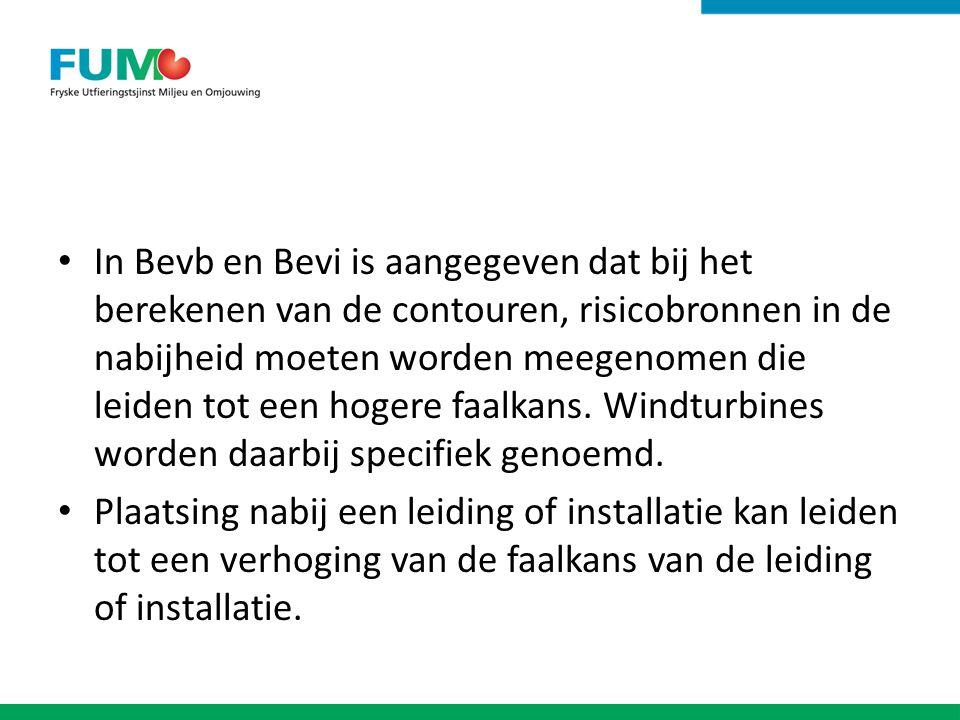 In Bevb en Bevi is aangegeven dat bij het berekenen van de contouren, risicobronnen in de nabijheid moeten worden meegenomen die leiden tot een hogere faalkans.