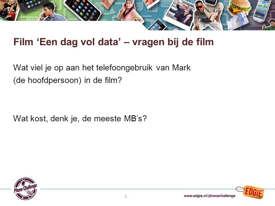 5 Wat viel je op aan het telefoongebruik van Mark (de hoofdpersoon) in de film.