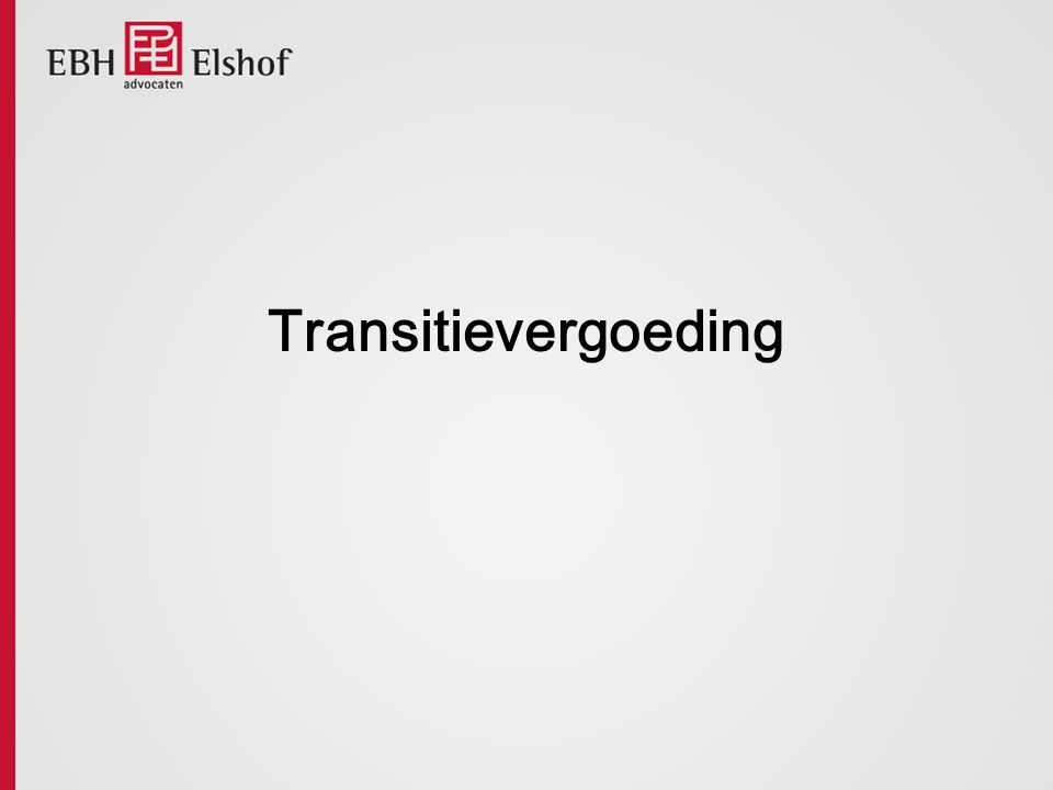 Transitievergoeding