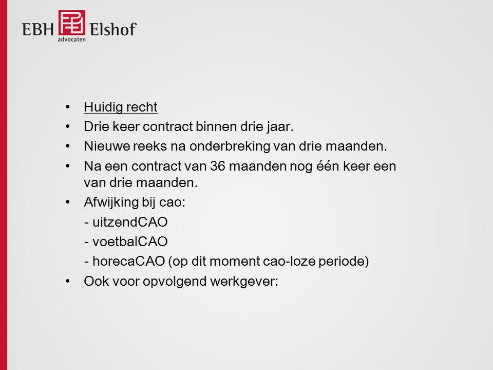 Ontslagrecht Oud Drie routes: 1.Beëindigingsovereenkomst; 2.