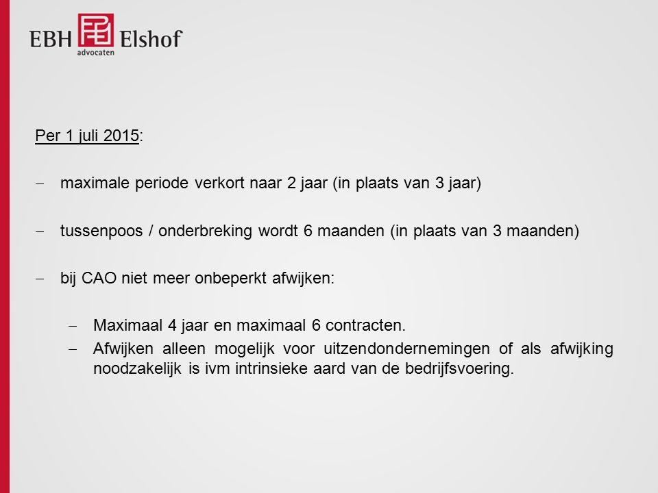 3.Opzeggen: BW: opzeggen met opzegtermijn. Maar: sinds 1945 BBA.