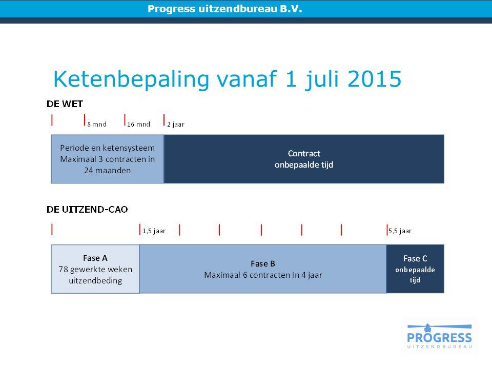 Progress uitzendbureau B.V. Ketenbepaling vanaf 1 juli 2015