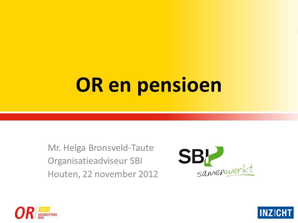 Pijlers pensioensysteem Nederland Er zijn 3 pijlers voor ons pensioensysteem: 1.