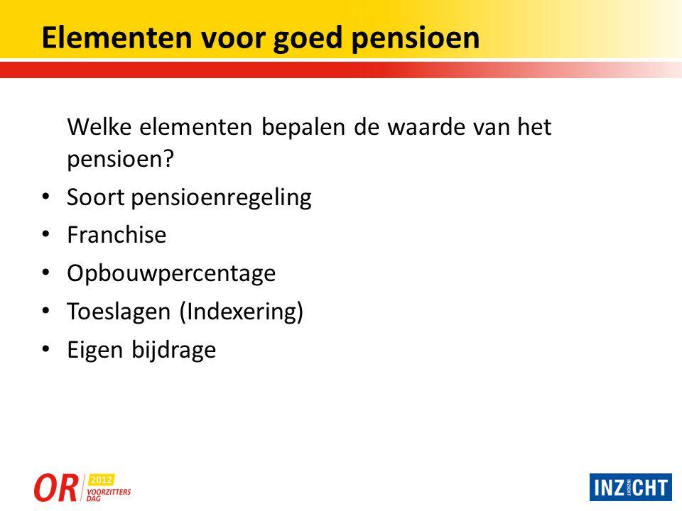 Soorten pensioenregelingen Globaal zijn er 3 soorten regelingen te onderscheiden: 1.