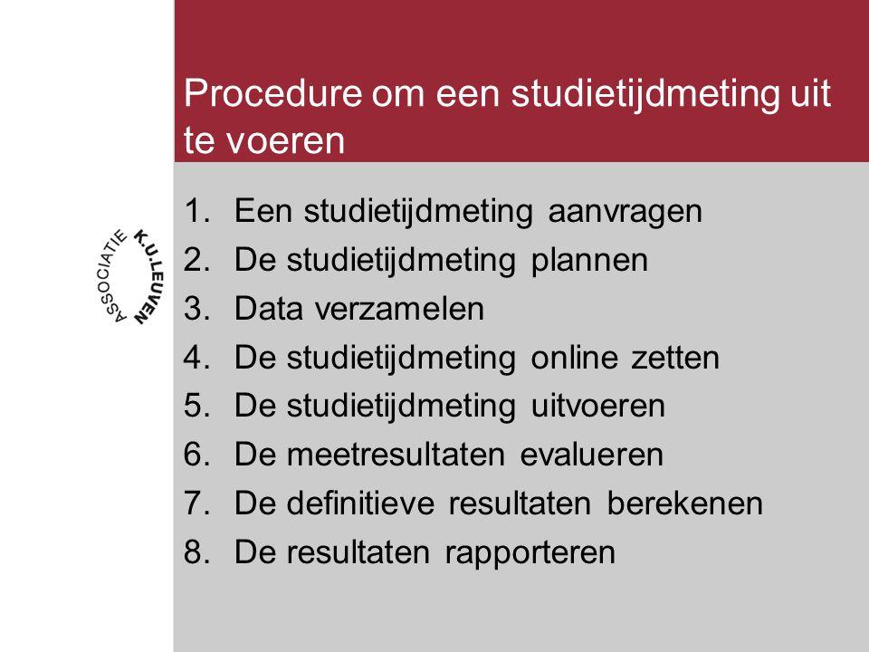 Resultaten studietijdmeting interpreteren (3) Studietijd van een individuele OO / OA 2.