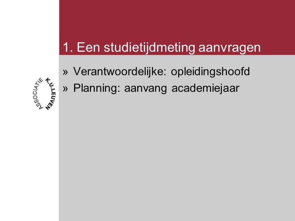 Resultaten studietijdmeting interpreteren (4) Studietijd van een individuele OO / OA 1.