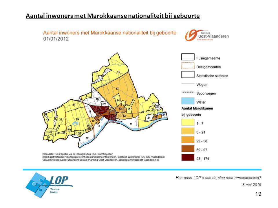 19 Aantal inwoners met Marokkaanse nationaliteit bij geboorte Hoe gaan LOP's aan de slag rond armoedebeleid.