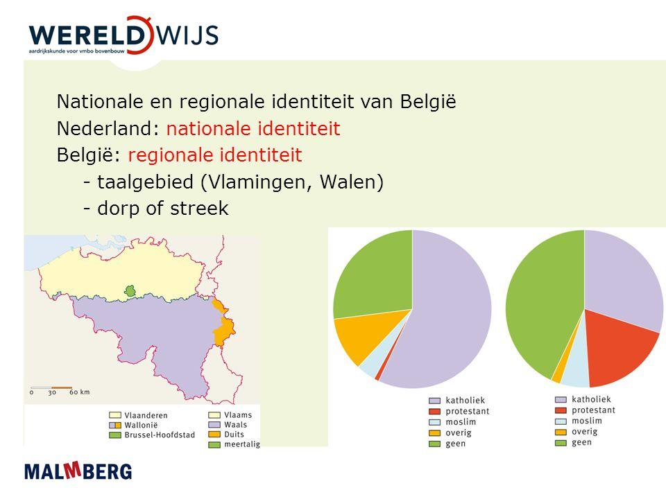 Nationale en regionale identiteit van België Nederland: nationale identiteit België: regionale identiteit - taalgebied (Vlamingen, Walen) - dorp of st