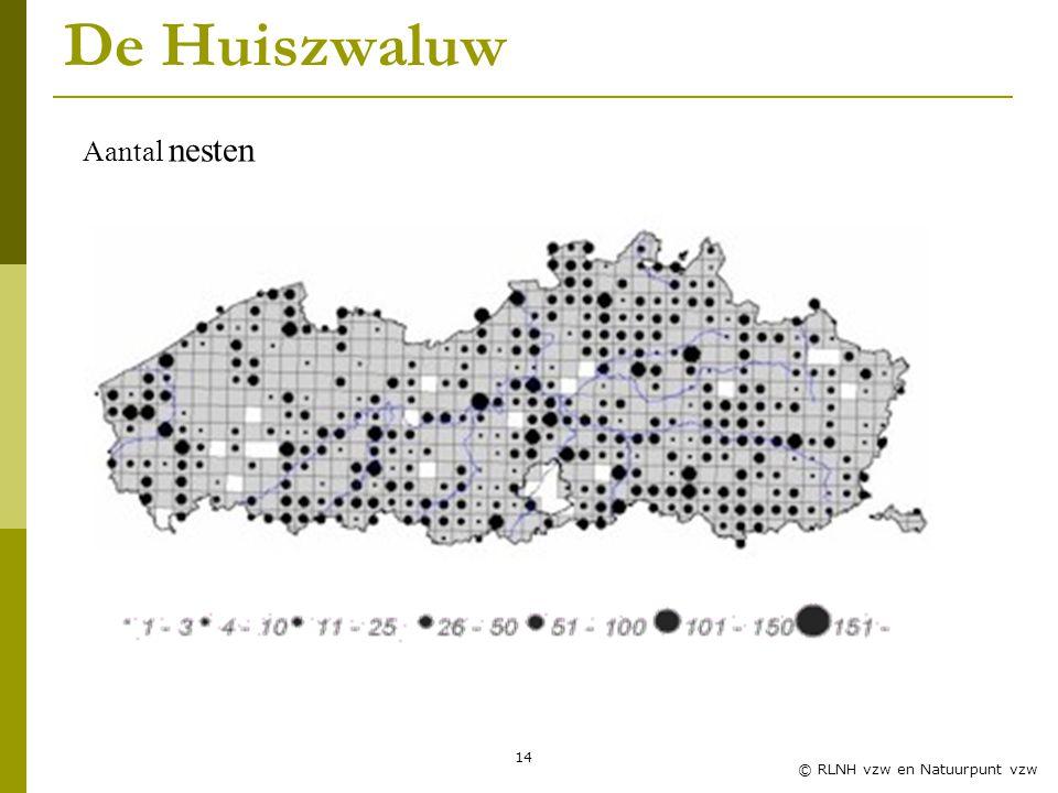 14 © RLNH vzw en Natuurpunt vzw De Huiszwaluw Aantal nesten