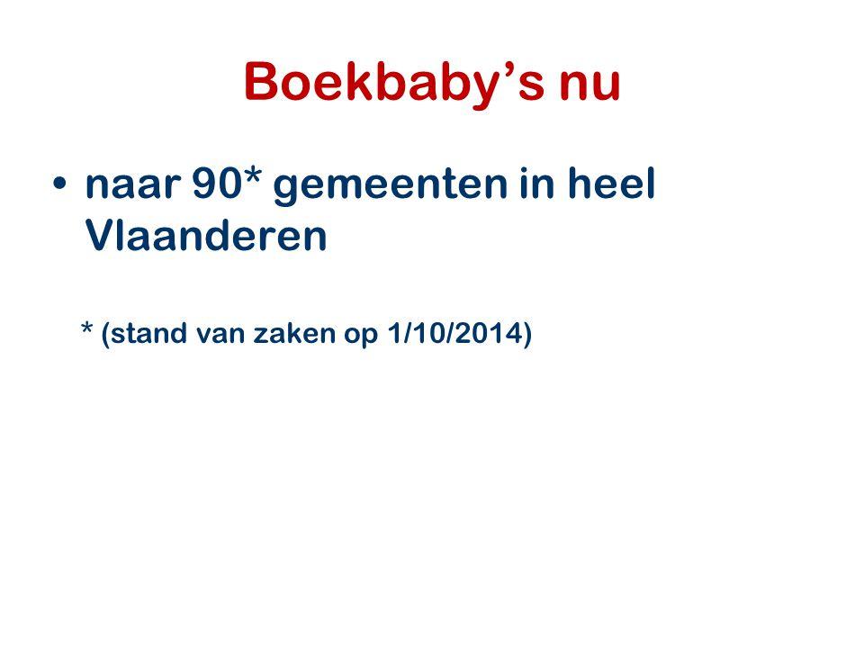 Boekbaby's nu naar 90* gemeenten in heel Vlaanderen * (stand van zaken op 1/10/2014)