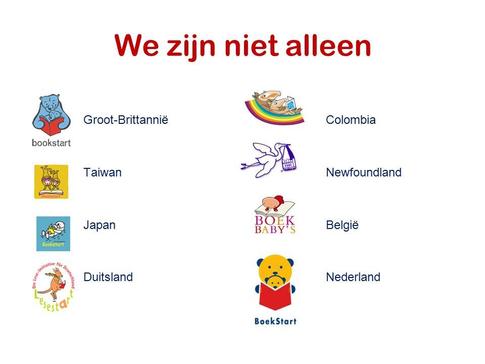 We zijn niet alleen Groot-Brittannië Colombia Taiwan Newfoundland Japan België DuitslandNederland