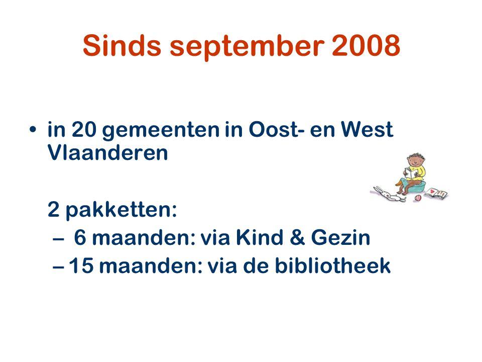 vanaf 1 januari 2011 Uitbreiding van 20 naar 45 gemeenten Nieuwe werkwijze: Stichting Lezen en Locus betalen het babypakket De gemeente betaalt het peuterpakket (13 euro)