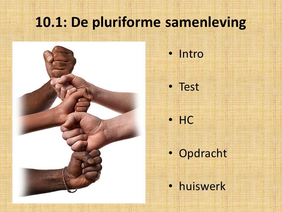 10.1: De pluriforme samenleving Intro Test HC Opdracht huiswerk