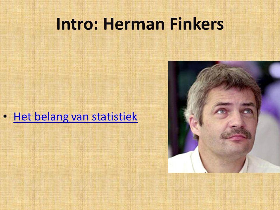 Intro: Herman Finkers Het belang van statistiek
