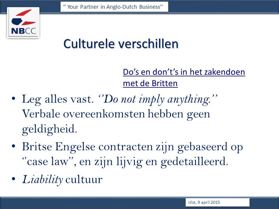 Culturele verschillen Do's en don't's in het zakendoen met de Britten Leg alles vast.