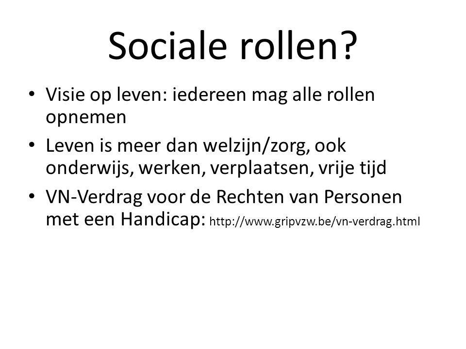 Sociale rollen.