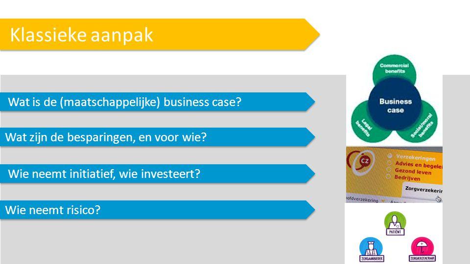 Klassieke aanpak Wat is de (maatschappelijke) business case.